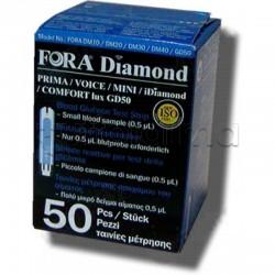Fora Diamond GD50 Strisce Reattive Per La Misurazione Della Glicemia 50 pezzi