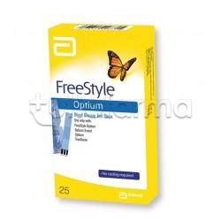 Freestyle Optium Strisce Reattive Per La Misurazione Della Glicemia 25 Strisce