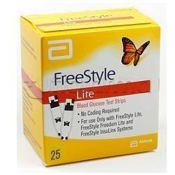 Freestyle Lite Strisce Reattive Glicemia 25 Pezzi
