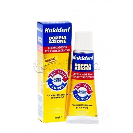 Kukident Doppia Azione Crema Adesiva per Protesi Dentali 40 gr