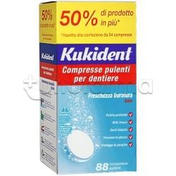 Kukident Cleanser Compresse Pulenti per Dentiere 88 Compresse