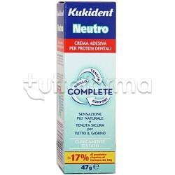 Kukident Neutro Complete Pasta Adesiva per Dentiere Sapore Neutro 47 gr