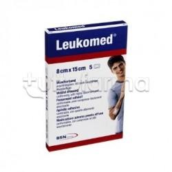 Leukomed Medic Medicazione Autoadesiva con Garza Tessuto Non Tessuto 8 X 15 Cm