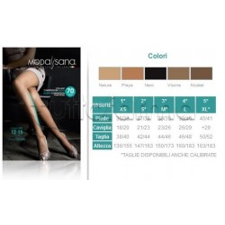 ModaSana Collant Compressione Media 70 Denari Nature Varie Misure