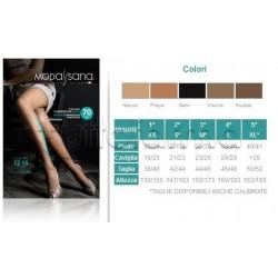 ModaSana Collant Compressione Media 70 Denari Visone Varie Misure