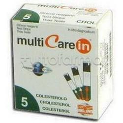Multicare In Strisce Reattive Colesterolo 5 Pezzi