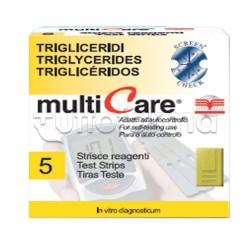 Multicare Trigliceridi Striscette Misurazione Colesterolo 5 Strisce