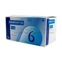 Novo Nordisk Novofine Aghi Insulina 31 Gr 6 Mm 100 Pezzi