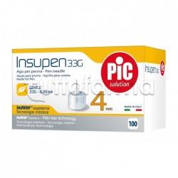 Pic Ago Penna Insulina 33G 4 MM 100 Pezzi