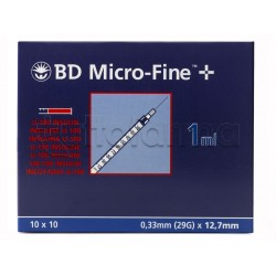 BD Micro fine Siringa Per Insulina 1ml 29g 7mm 30 pezzi