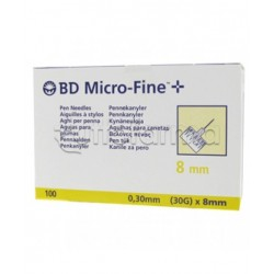 BD Micro-Fine 30G 8mm Aghi per Penna Insulina 100 pezzi