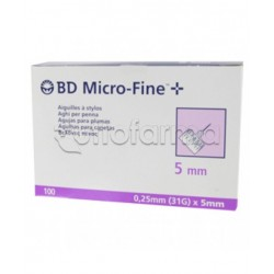 BD Micro-Fine 31G 5mm Aghi per Penna Insulina 100 pezzi