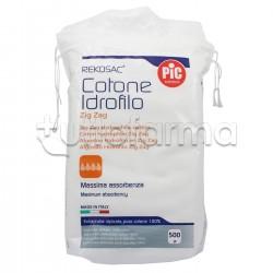 Pic Cotone Idrofilo Ovatta Zig Zag Rekosac 500 Gr