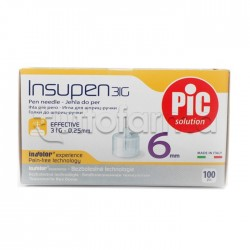 Pic Insupen 31 G 6 Mm Aghi Pungidito 100 Pezzi