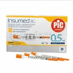 Pic Siringa Per Insulina 0,5ml 31g 8mm 30 Pezzi