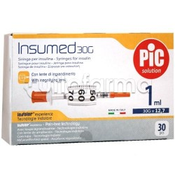 Pic Siringa Per Insulina 1ml 30g 12,7mm 30 Pezzi