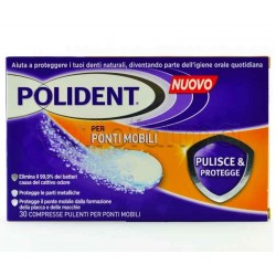 Polident Pulisce & Protegge Ponti Mobili 30 Compresse
