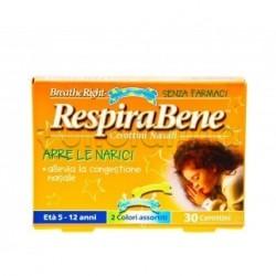 RespiraBene 30 Cerottini Nasali per Bambini