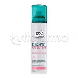 RoC Keops Deodorante Spray Secco Senza Alcool Antitraspirante Anti Odore 150 ml