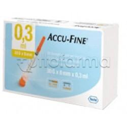 Roche Accu Fine Siringa Insulina 0,3 ml 30g x 8mm 30 pezzi