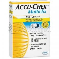 Roche Diagnostics Accu Chek Multiclix Controllo Glicemia 100+2 Lancette Pungidito
