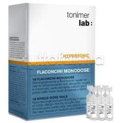 Tonimer Hypertonic Soluzione Ipertonica Nasale Neonati Bambini 18 Flaconcini Monodose