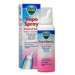Vicks Vapo Spray Nasale Isotonico Con Acqua Di Mare Bebè e Bambini 100 ml