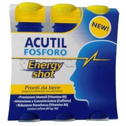 Acutil Fosforo Energy Shot per Memoria e Stanchezza 3 Flaconi