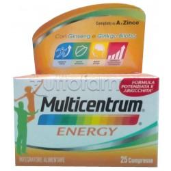 Multicentrum Energy Integratore Multivitaminico Multiminerale 25 Compresse