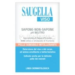 Saugella Viso Sapone-Non-Sapone pH Neutro per Pelli Sensibili 100g