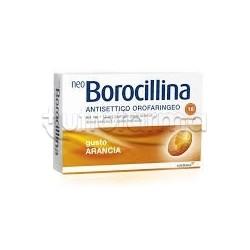 Neoborocillina Antisettico Orofaringeo 16 Pastiglie Arancia per Mal di Gola