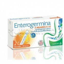 Enterogermina 4 Miliardi di Spore Attive Fermenti Lattici 20 Flaconcini 5ml