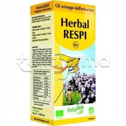 Herbalgem Herbal RESPI per le Vie Respiratorie Flacone Sciroppo 150ml