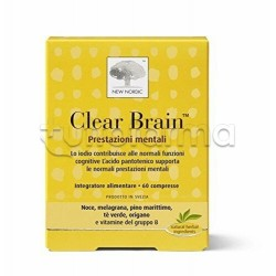 New Nordic Clear Brain Integratore per la Memoria 60 Compresse