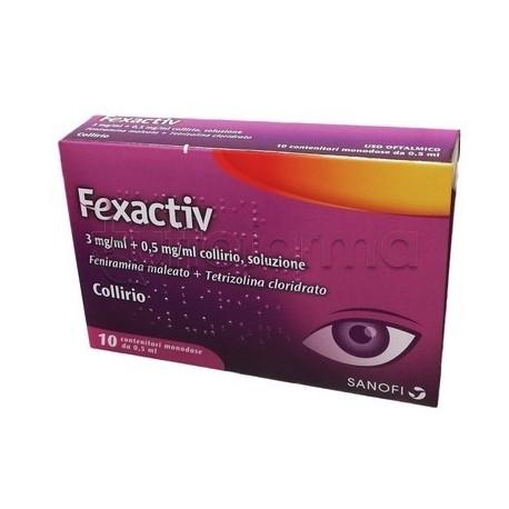 Fexactiv Collirio per Allergia e Occhi Rossi Monodose 10 Flaconcini