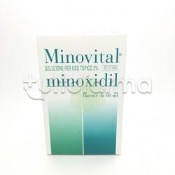 Minovital Soluzione Cutanea Contro Caduta dei Capelli 60 ml 2% Minoxidil