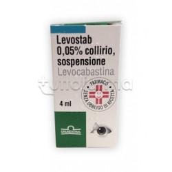 Levostab Collirio Flacone 4 ml 0,5 mg/ml per Occhi Allergici