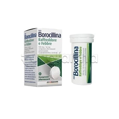 Neoborocillina Raffreddore & Febbre 8 Compresse per Influenza e Raffreddore