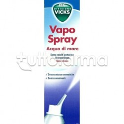 Vicks Vapo Spray Nasale Isotonico Con Acqua Di Mare 100 ml