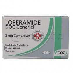 Loperamide Doc Generici 8 Compresse 2 mg contro Diarrea (Equivalente Imodium)