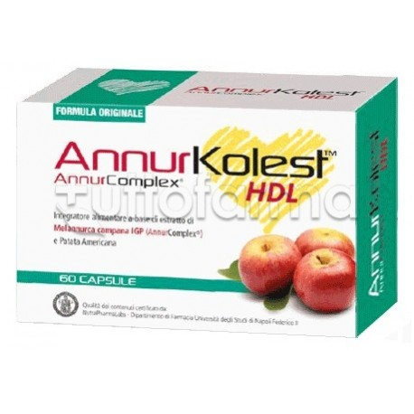 Annurkolest Hdl Integratore Per Abbassare Colesterolo 60 Capsule