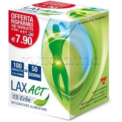 Lax ACT 13 Erbe Lassativo Per Stitichezza 100 Tavolette
