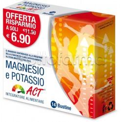 Magnesio E Potassio ACT Integratore 14 Bustine