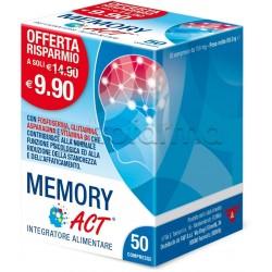 Memory ACT Integratore Per Memoria E Concentrazione 50 Compresse