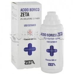 Acido Borico Zeta 3% 500 ml Acqua Borica