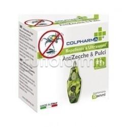 Colpharma Repellente a Ultrasuoni per Persone Contro Zecche e Pulci