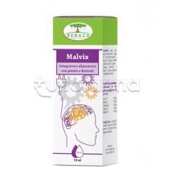 Malvix Integratore per Memoria e Concentrazione Gocce 50ml