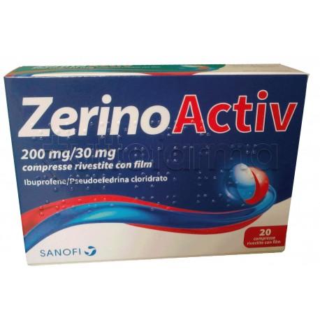 ZerinoActiv 20 Compresse per Febbre, Raffreddore e Influenza