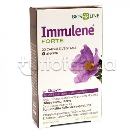 Immulene Forte Integratore per Difese Immunitarie e Influenza 20 Capsule