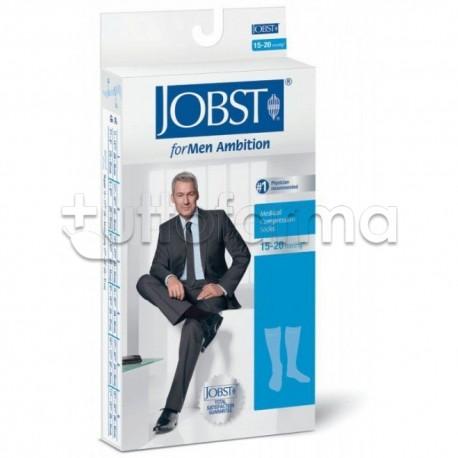 Jobst For Men Calza Uomo a Compressione 15-20 mmHg Taglia 2 Blu